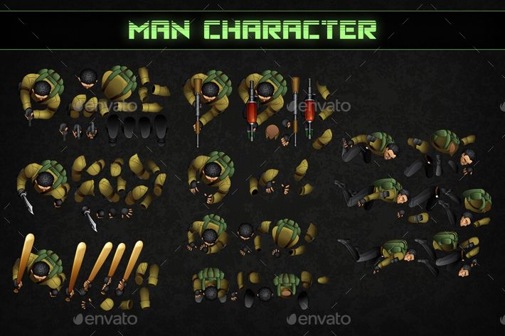 Top Down Shooter Main Characters Main Characters Top Down Game