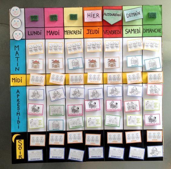 Expliquer le temps aux enfants #2 : le semainier - Un jour un jeu