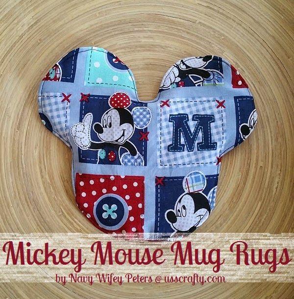 Blue Mickey Mouse Mug Rugs ~ USS Crafty