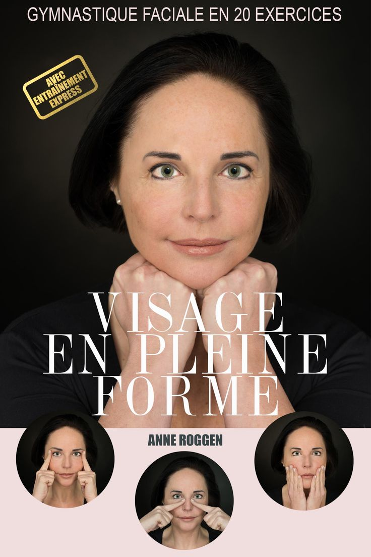 E-book 'Visage en pleine forme', contenant 20 exercices isométriques pour les muscles et les contours faciaux.