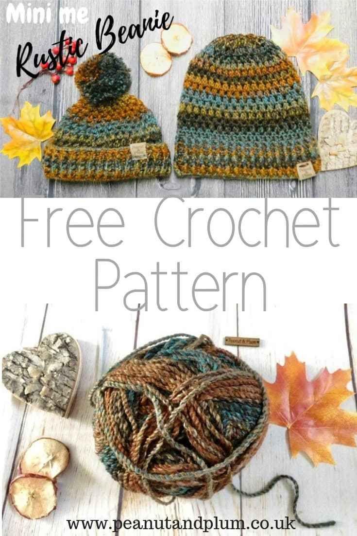 Rustic Beanie - Crochet Free Pattern -   Crochet Women\'s Hats ...