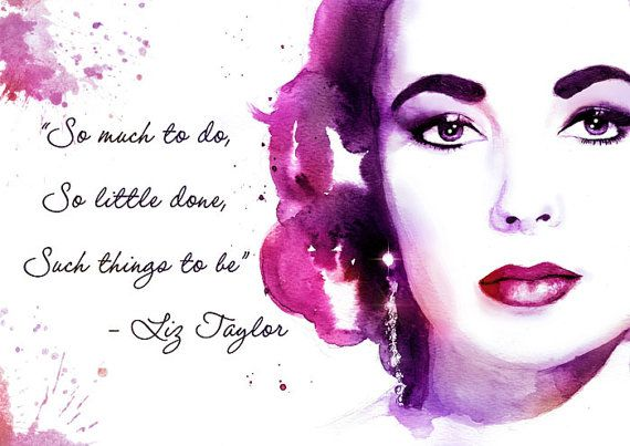 Elizabeth Taylor with Quote Customizable Wall by YuffieesCorner