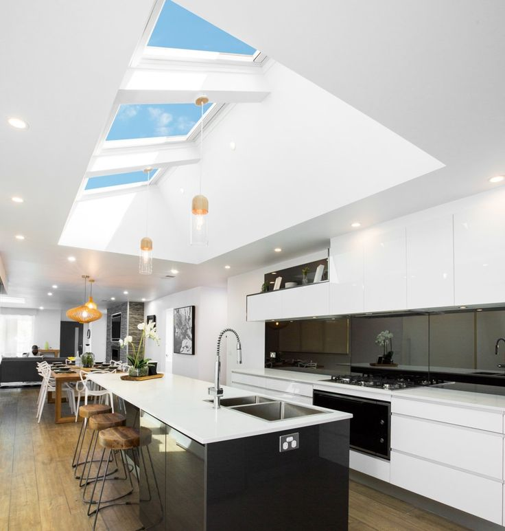VELUX skylights will have a huge impact on your kitchen extension - more daylight, more views, more comfort. Get the best prices (guaranteed!) at Sterlingbuild.