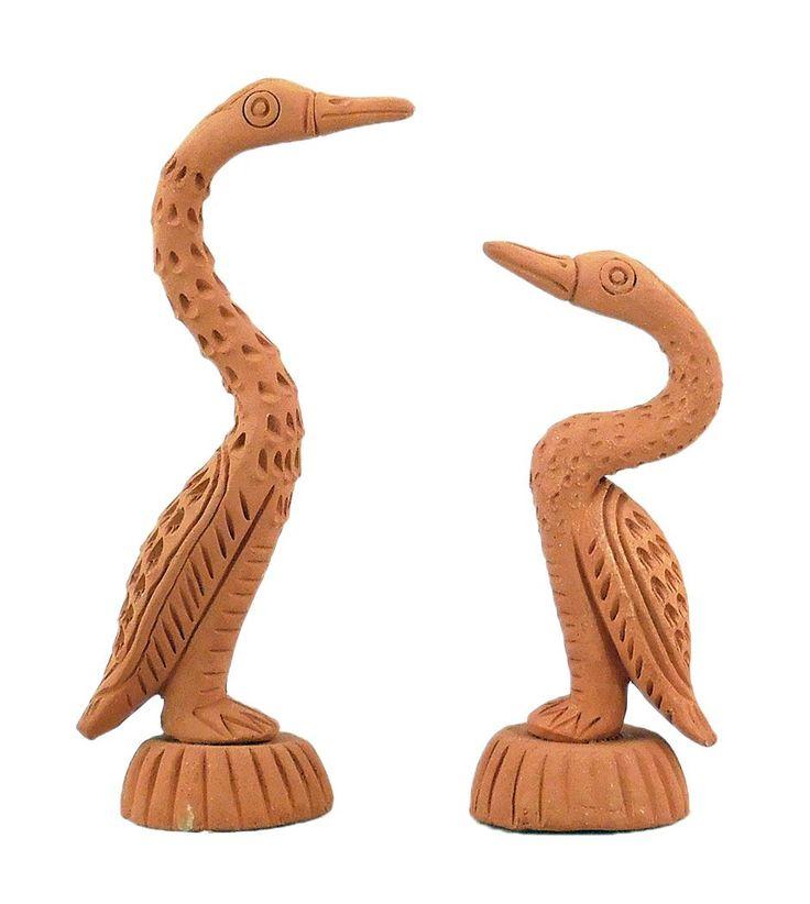 2 Terracotta Cranes (Terracotta)
