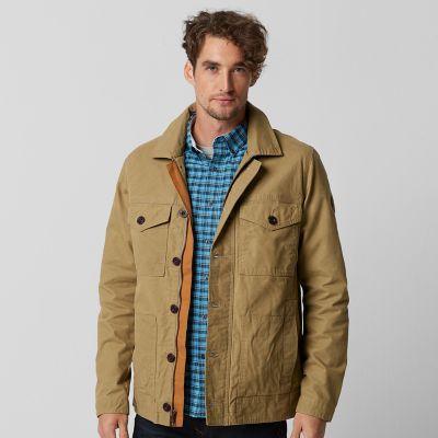 Timberland Men's Mount Davis Waxed Chore Coat (British Khaki)