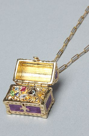 Disney Couture Jewelry  The Little Mermaid Collection Treasure Chest Necklace