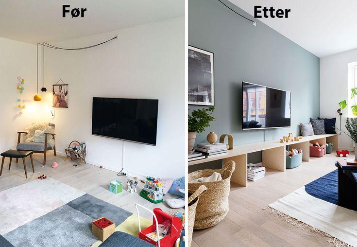 Stue inspirasjon | Oppbevaring av leker i stuen | Boligpluss.no