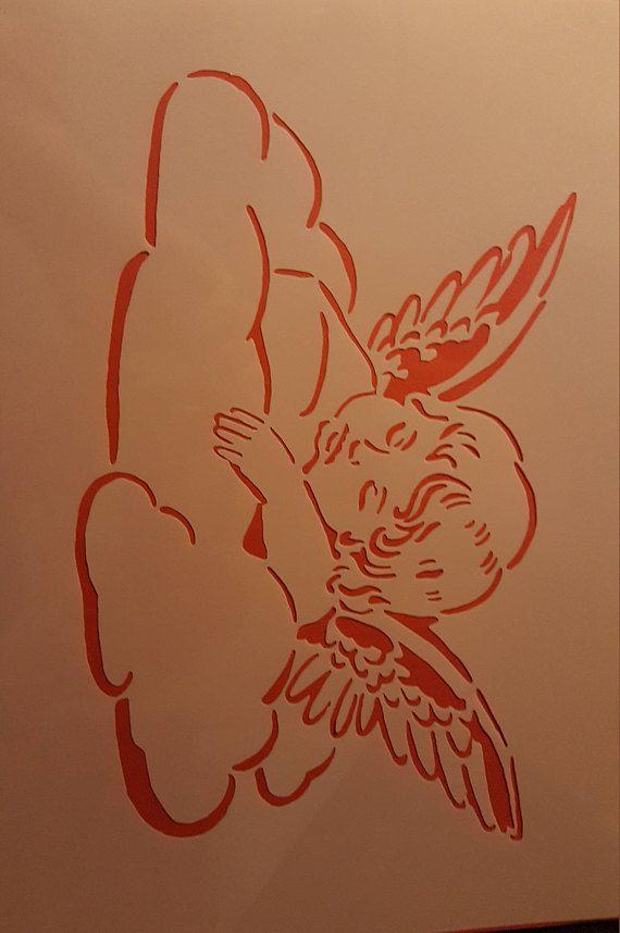 Stencils Wall Decals Airbrush Canvas fabric design stencil