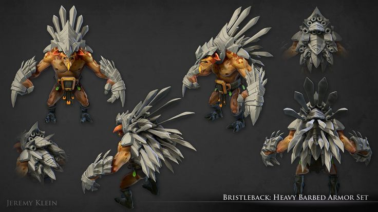 ArtStation - Bristleback: Heavy Barbed Armor Set, Jeremy Klein