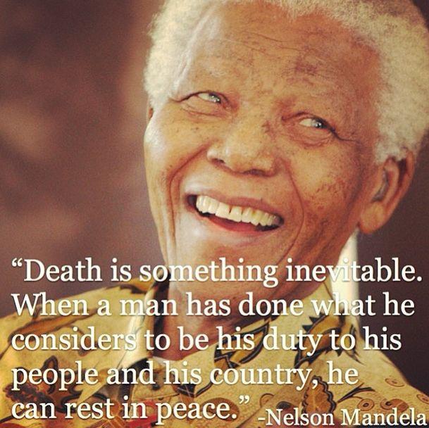 RIP Nelson Mandela -- A true inspiration.