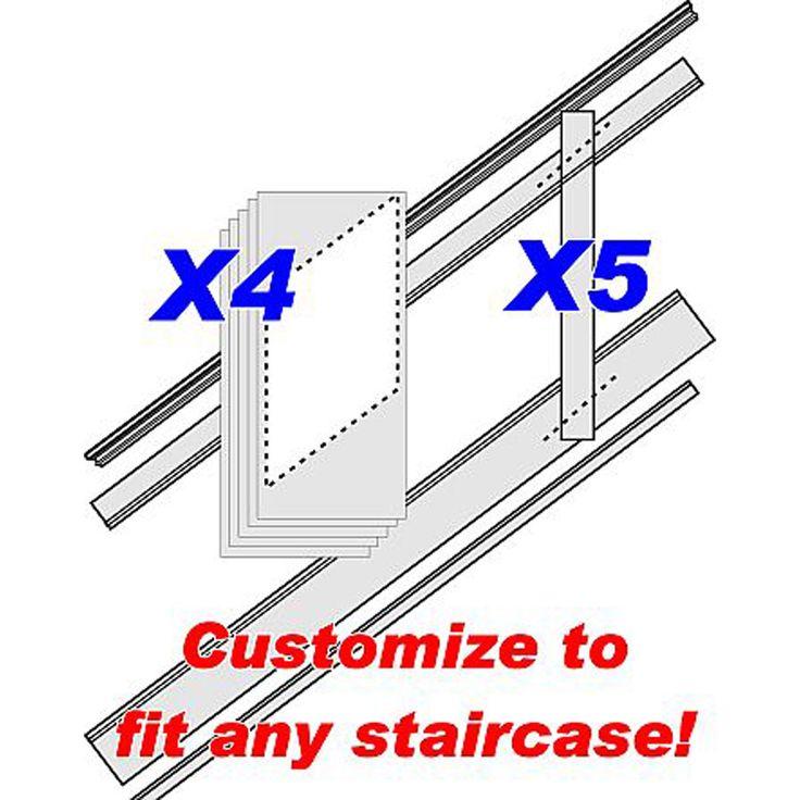 "96""L, Adjustable Height Raised Panel Stair Wainscoting Kit - 198.99"