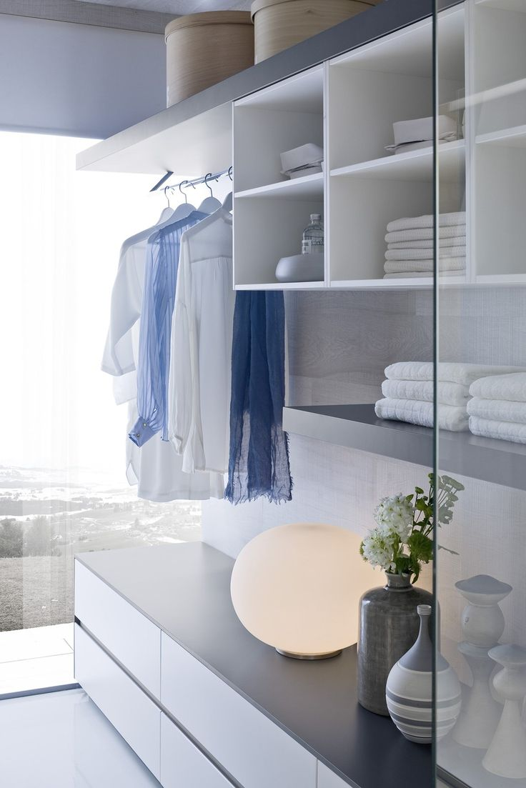Stylistic continuity for bathroom and walk in closet space ideagroup presents ny collection - Walkin closets for small spaces set ...