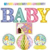 Hoşgeldin Bebeğim, Dekor Kiti  Bebek partileriniz için ideal! Mekanı duvar, tavan ve masa üstü olarak komple süsleyebilirsiniz.
