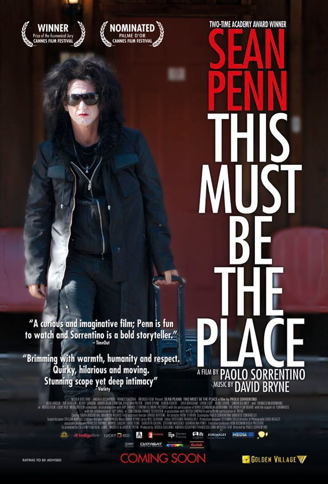 """This Must Be the Place"" ( Questo deve essere il posto / Un lugar donde quedarse ) - Paolo Sorrentino - 2011 - Italy - Comedy / Drama  Trailer: http://youtu.be/q0ryRwKkKI4  ⑥.⑧ / ⑩"
