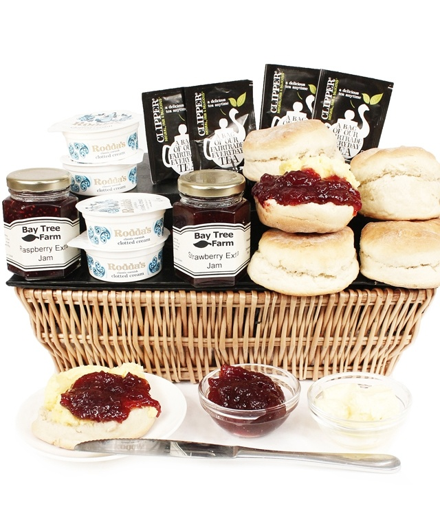 Our delicious Westcountry Cream Tea Basket www.eden4hampers.co.uk