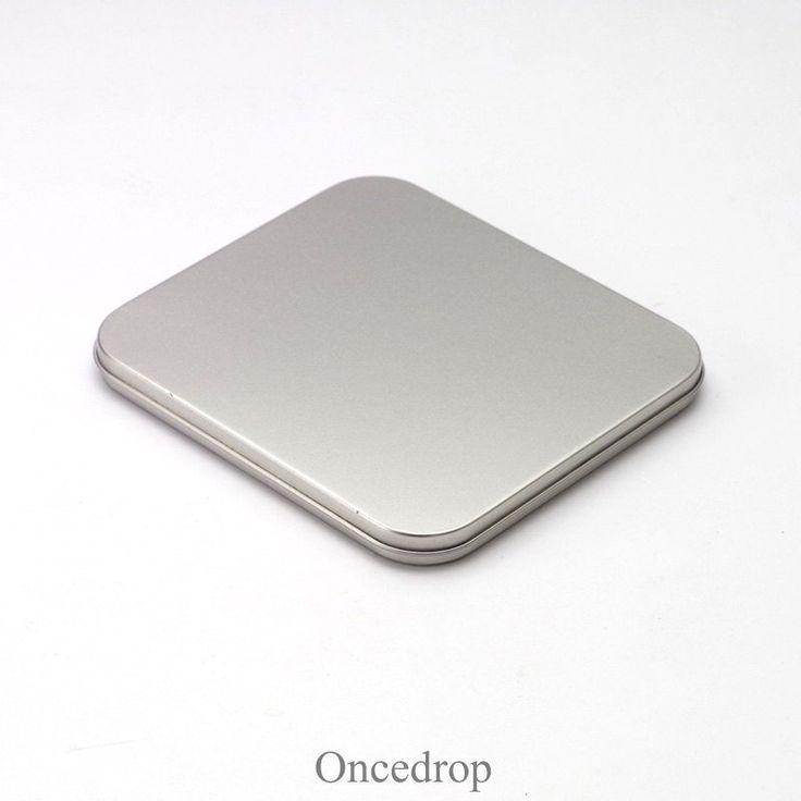 Single CD Metal Tins Bland DIY Storage Boxes DVD Case -Qty 1