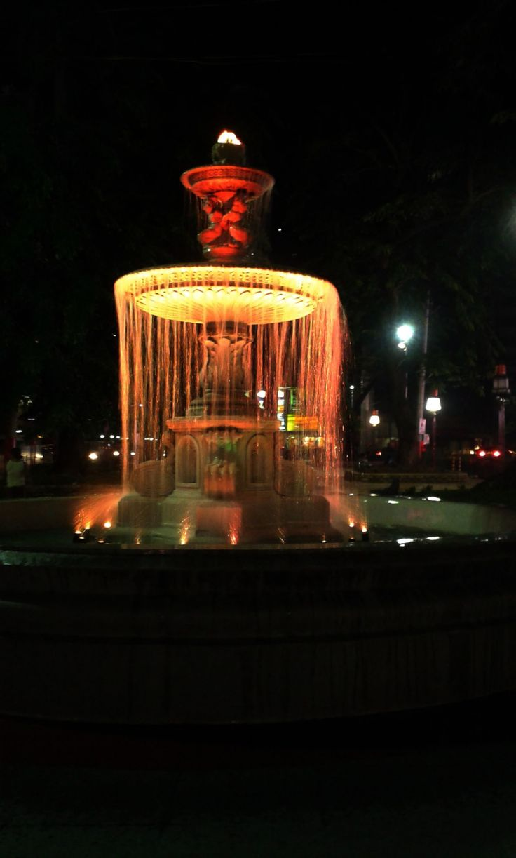 Yellow Water Fountain Free Stock Photo HD - Public Domain Pictures