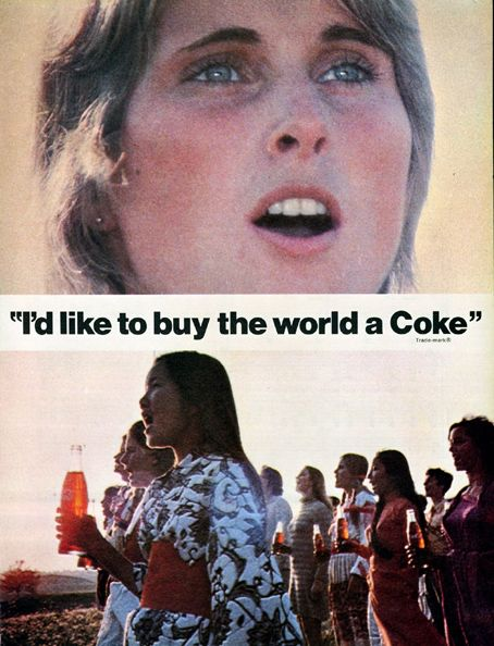 """""""I like to teach the world to sing...."""" In 1969, The Coca-Cola Company and its advertising agency, McCann-Erickson, ended their popular """"Things Go Better With Coke"""" campaign, replacing it with a campaign that centered on the slogan """"It's the Real Thing."""" Beginning with a hit song, the new campaign featured what proved to be one of the most popular ads ever created."""