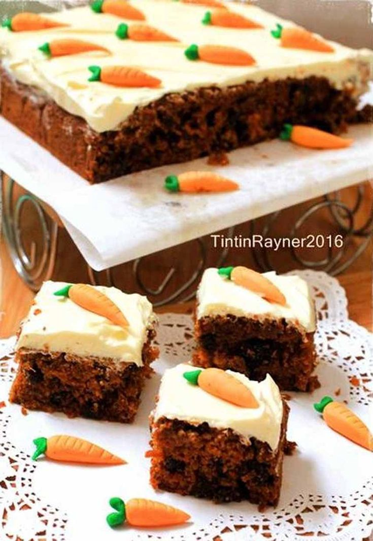 Resep Carrot Cake Palm Sugar Yang Enakkk With Creamcheese Frosting Kocok All In One