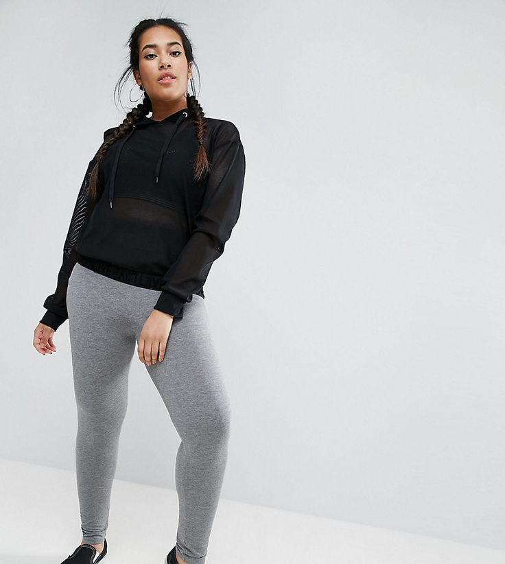 Get this Asos Curve's basic leggings now! Click for more details. Worldwide shipping. ASOS CURVE Leggings With Deep Waistband - Grey: Plus-size leggings by ASOS CURVE, Smooth stretch fabric, High-rise waist, Wide elasticated waistband, Close-cut bodycon fit, Machine wash, 96% Viscose, 4% Elastane, Our model wears a UK 18/EU 46/US 14 and is 170cm/5'7 tall. Say goodbye to awkward-fitting plus-size fashion with our ASOS CURVE collection. Giving shout-outs to denim, occasionwear and jumpsuits…