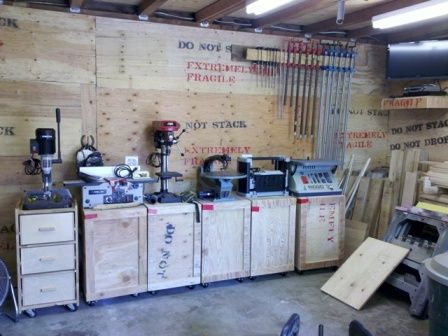 Here Is A Few Pictures Of My Little Garage Shop The Walls Are Insulated With 3 Inch Blue Styrofoam And Covered Plywood Insulation