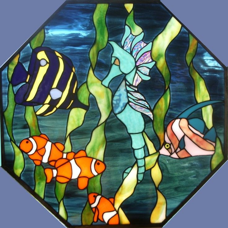 seahorses in stained glass - Google Search