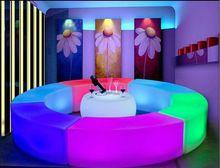 Creative Glowing Led arc-shaped snake chairs combination living room sofa LED bar furniture explosion models selling bar stool(China (Mainland))