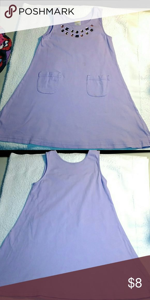 Gymboree passion purple jumper Size 6. Pleasant wearing soft cotton jumper with jewels around the neck's crew collar. Also has 2 cute pockets. Gymboree  Dresses Casual