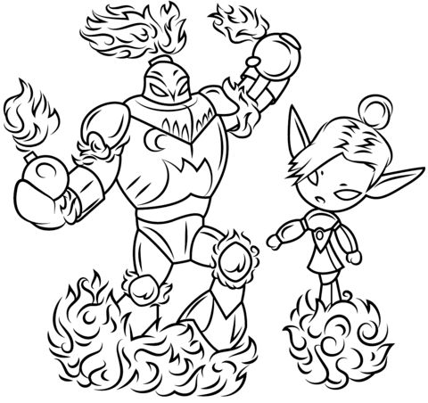 skylanders blast zone and mini jini coloring page from skylanders category select from 26282 printable