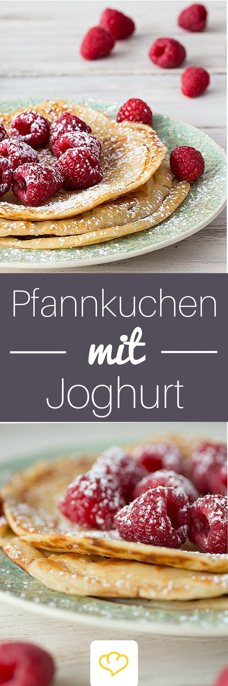 Mit diesen extra-fluffigen Joghurt-Pfannkuchen schweben dein Herzblatt und du auf Wolke 7!