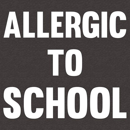 Allergic to school funny cool teen protest t shirts and gifts unisex t shirt i hate