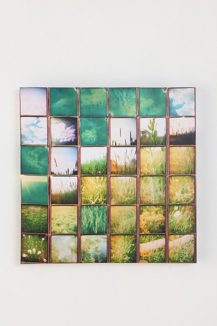 grass image mosaic: Wallart, Idea, Urban Outfitters, Diy Art, Pictures Collage, Photos Collage, Patrick'S Winfield, Art Prints, Diy Wall Art
