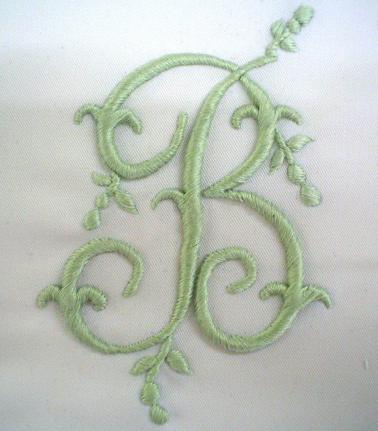 hand embroidered monograms - Google Search