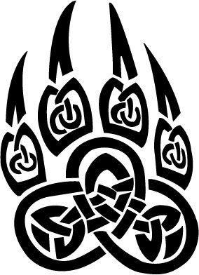 Tribal Bear Claws Tattoos | Tribal Design Tattoos- Tattoo Removal