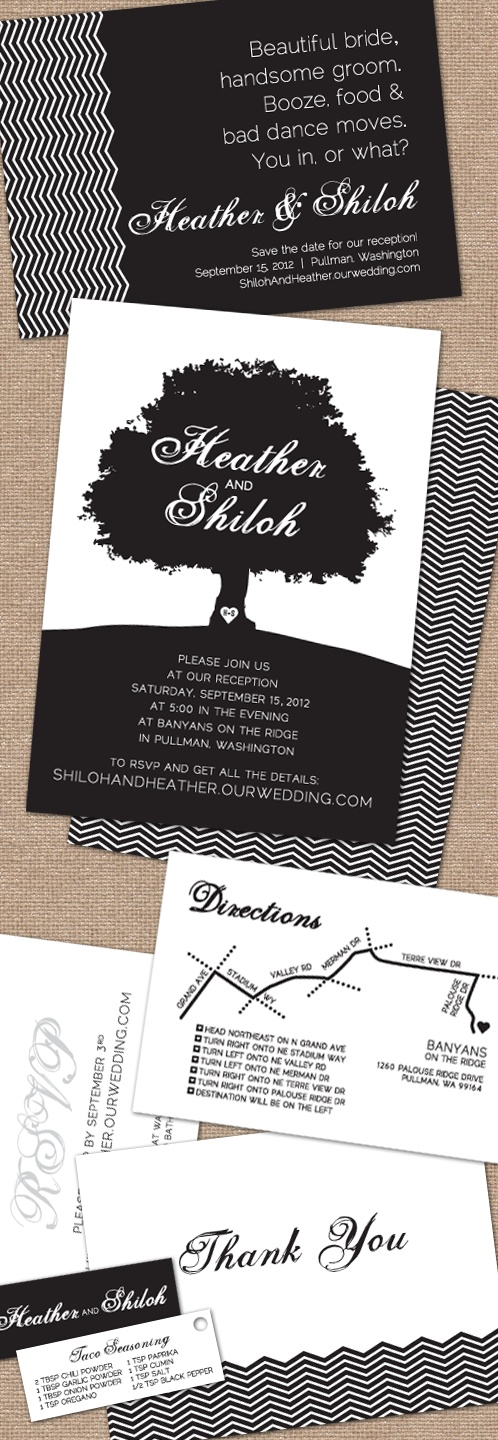 invitation letter for judging an event%0A Black and White Wedding Invitation Suite   The Graphic Hedgehog