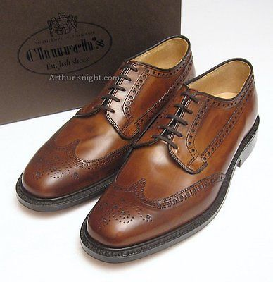 #*new* church shoes mens brown country brogues #leather sole #brookland size uk 9,  View more on the LINK: http://www.zeppy.io/product/gb/2/151574571656/