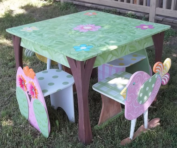 Retiring This set Childrens Table and 2 Chair SET by spoiltrottn, $289.00