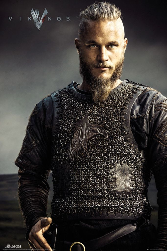 Vikings Ragnar Lothbrok - Official Poster. Official Merchandise. Size: 61cm x 91.5cm. FREE SHIPPING
