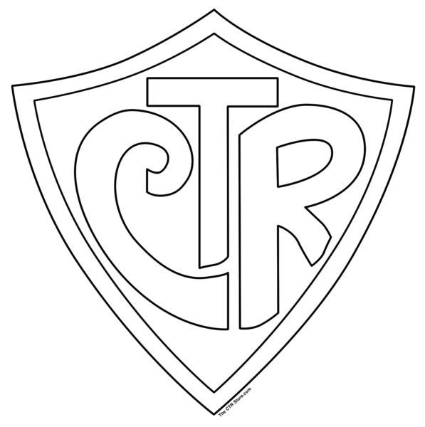Large CTR Shield - download LDS printables, object lessons, activity ideas, and teaching tips at Mormon Share.