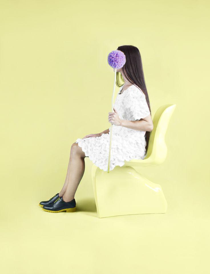 Black & Yellow. Freakloset Unisex Shoes.