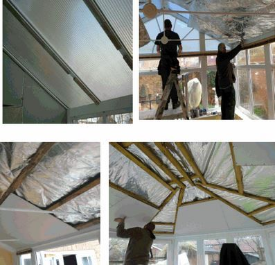 Conservatory Ceiling Insulation, how to installing