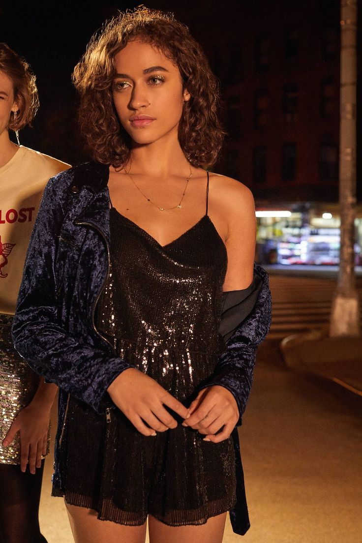 Raga All Night Sequin Romper | Urban Outfitters