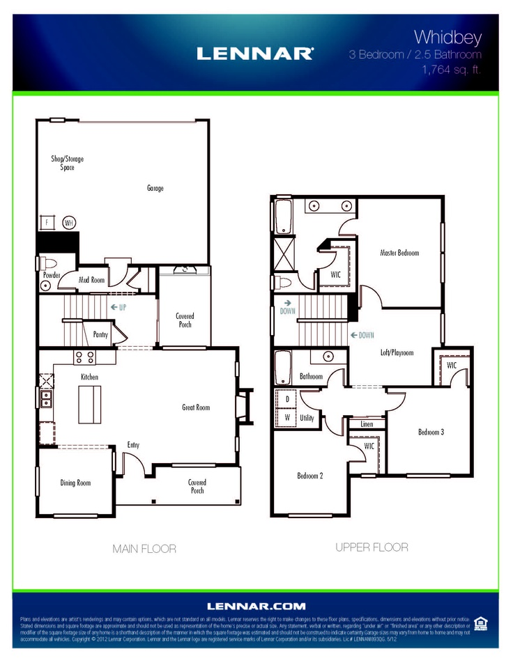 54 best lennar seattle floorplans images on pinterest for Whidbey house plan