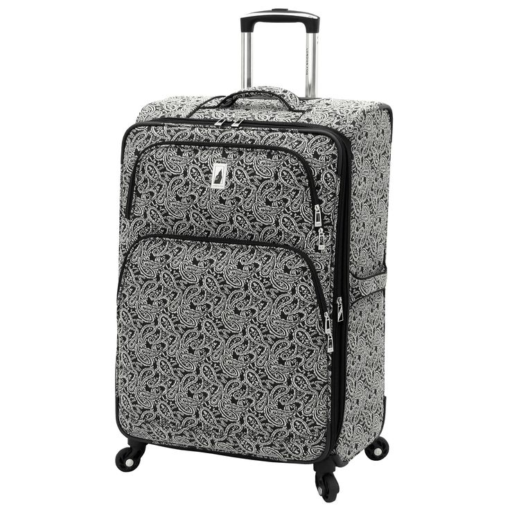 London Fog Greenwich Collection 24-inch Expandable Spinner Upright Suitcase