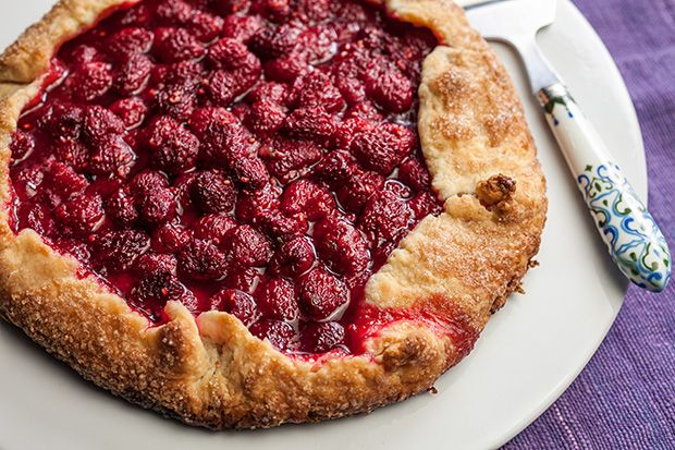 The addition of lime juice and zest gives this easy raspberry tart recipe a pleasant citrus flavor.