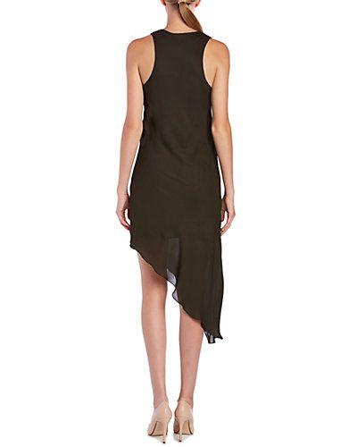 Rue La La — Haute Hippie Silk Asymmetrical Side Tuck Dress