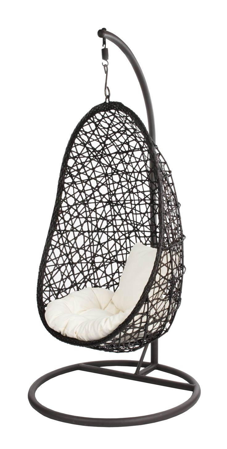 hanging chair brown egg giardino tuin. Black Bedroom Furniture Sets. Home Design Ideas