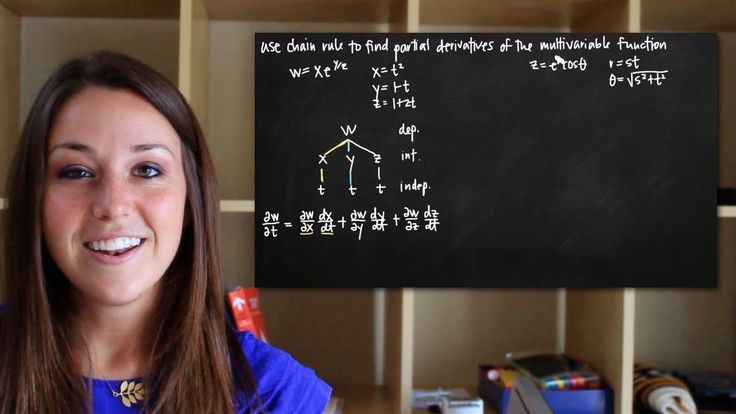 Chain rule for partial derivatives of multivariable functions (KristaKin...