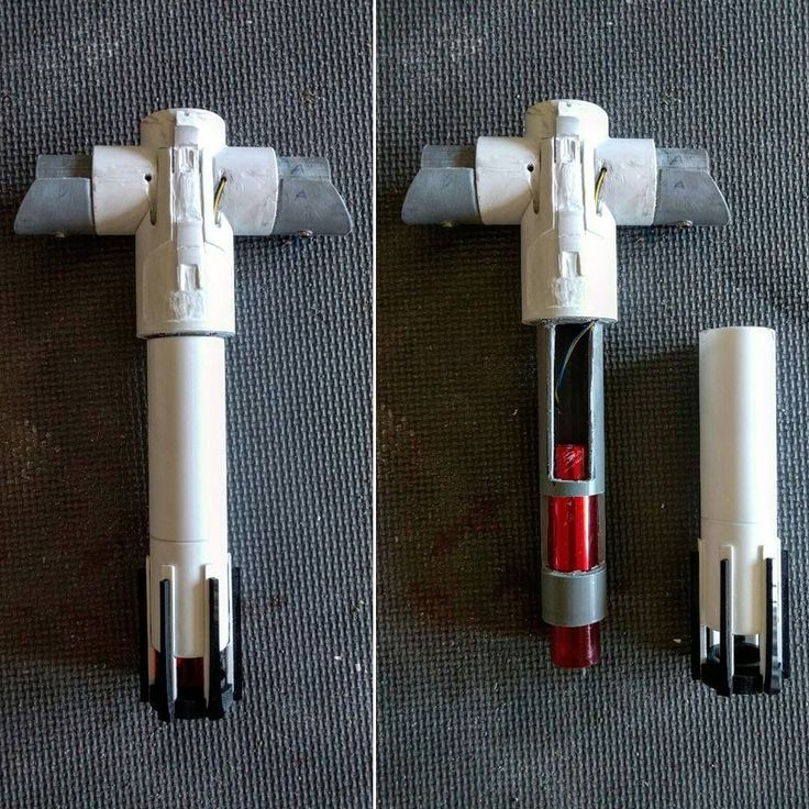 how to make a lightsaber hilt out of pvc