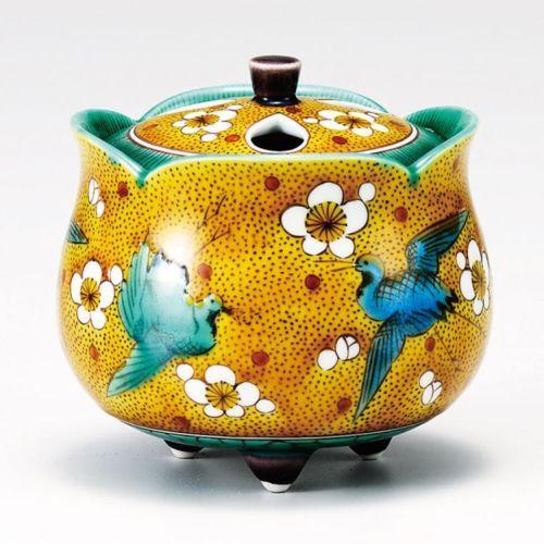 Kutani Porcelain Japanese Incense Burner Takayuki Turu Crane H10CM | eBay
